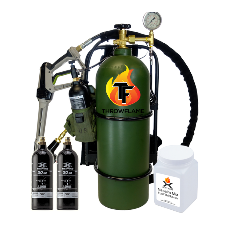 Flamethrower pyro package green
